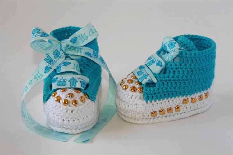 Erkek Bebeğe Mavi Kıyafet